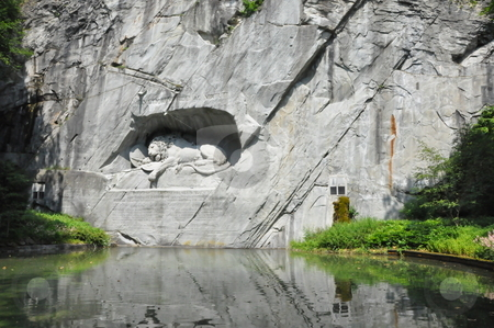 Lion Monument in Lucerne stock photo, Lion Monument in Lucerne, Switzerland by Ritu Jethani