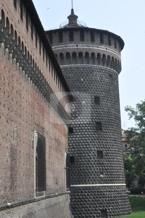 Sforza Castle in Milan stock photo, Sforza Castle in Milan, Italy by Ritu Jethani