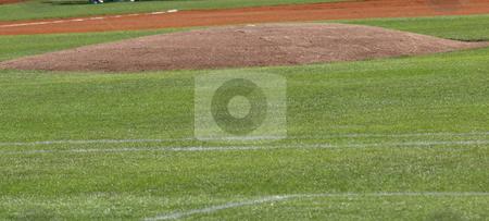 The mound stock photo, Pitchers mound shown very close up by Tim Markley
