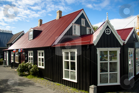 Old nordic house in Reykjavik stock photo, Beauty old nordic house in Reykjavik - Iceland by Tomasz Parys