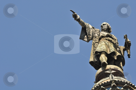 Christopher Columbus Statue stock photo, Christopher Columbus Statue in Barcelona, Spain by Brandon Bourdages