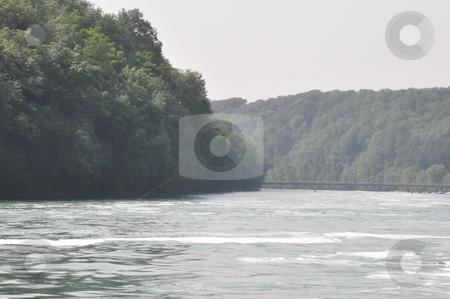 Rhine River in Schaffhausen stock photo, Rhine River in Schaffhausen at the border of Germany and Switzerland by Ritu Jethani
