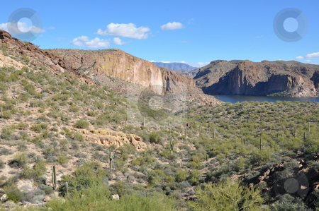 Apache Lake in Arizona stock photo, Apache Lake in Arizona, USA by Ritu Jethani