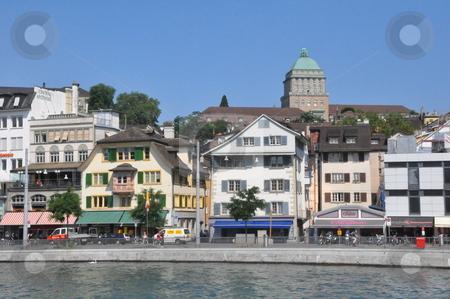 Zurich in Switzerland stock photo, View of downtown Zurich in Switzerland by Ritu Jethani