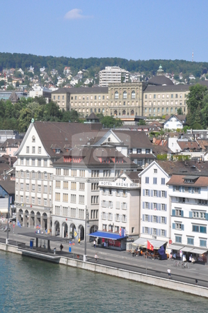 Zurich in Switzerland stock photo, View of Downtown Zurich in Switzerland by Ritu Jethani