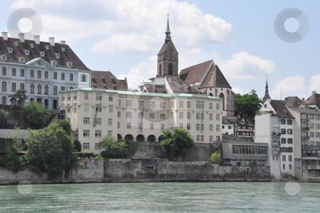 Basel in Switzerland stock photo, Basel by the Rhine River in Switzerland by Ritu Jethani