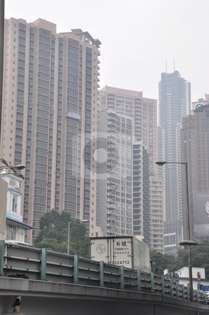 Skyscrapers in Hong Kong stock photo, Skyscrapers in Hong Kong, Asia by Ritu Jethani