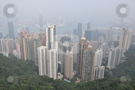 Aerial View of Hong Kong stock photo, Aerial View of Hong Kong from Victoria Peak by Ritu Jethani
