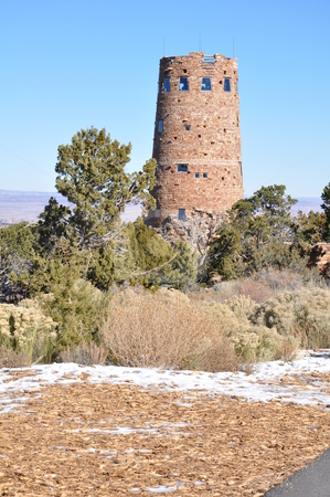 Watch Tower at Grand Canyon stock photo, Watch Tower at Grand Canyon in Arizona by Ritu Jethani