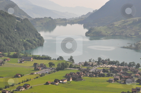 Lake in Switzerland stock photo, Lake in Switzerland, Europe by Ritu Jethani