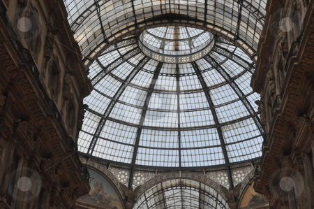 Galleria Vittorio Emanuele stock photo, Galleria Vittorio Emanuele in Milan, Italy by Ritu Jethani