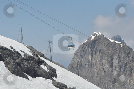 Cable Car at Mount Titlis stock photo, Cable Car at Mount Titlis, Switzerland by Ritu Jethani
