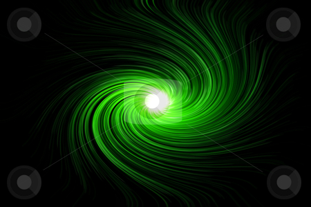Vibrant green swirl stock photo, Abstract blue swirling light against black background. by Samantha Craddock
