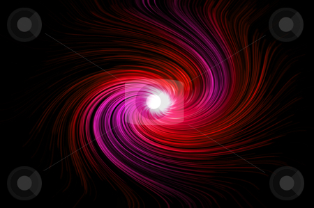 Vibrant red swirl stock photo, Abstract red and pink swirling light against black background. by Samantha Craddock