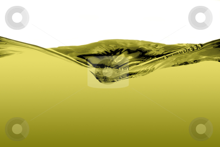 Green liquid wave stock photo, Green liquid waveisolated on a white background. by Homydesign 