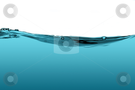 Blue water wave stock photo, Blue water wave isolated on a white background. by Homydesign