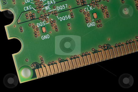 RAM memory stock photo, Ram memory isolated on black background. by Homydesign 