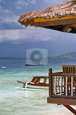 Wonderful tropical beach resort stock photo, Tropical beach on the Gili Islands in Indonesia by Alberto Rigamonti