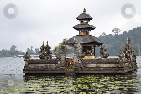 Ulun Danu temple stock photo, Ulun Danu temple Beratan Lake in Bali Indonesia by Alberto Rigamonti