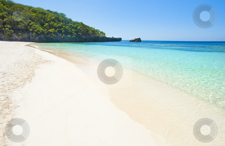 Beach stock photo, Beach and tropical sea in the caribbean by Christian Delbert
