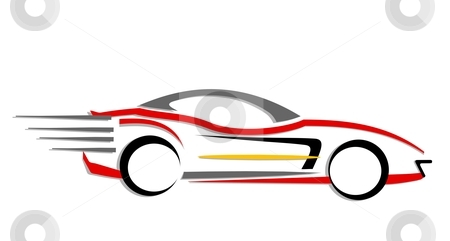 Going Fast in a Car Fast Moving Car Clipart