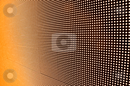 LED wall stock photo, Perspective view of LED wall  in orange color by Sreedhar Yedlapati