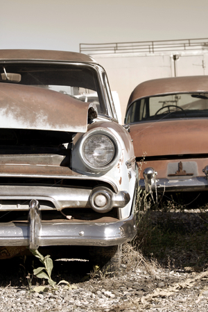 Rustic cars stock photo, Rustic abandoned cars Wyoming in sepia color by Sreedhar Yedlapati