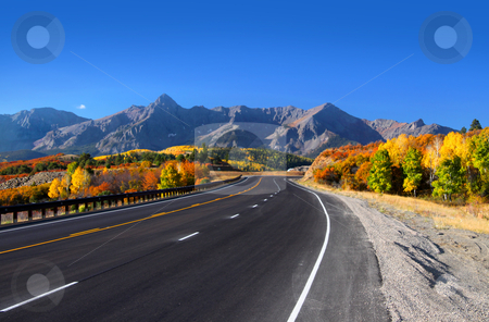 Scenic drive San Juan mountains stock photo, Scenic drive near Dallas divide in San Juan mountains by Sreedhar Yedlapati
