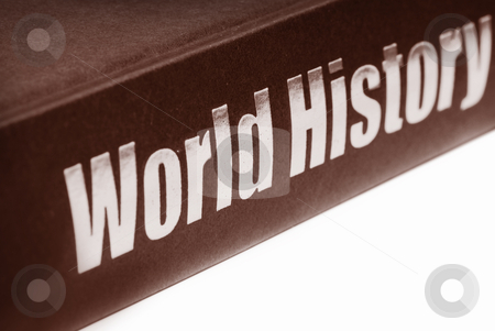 Book of World History stock photo, Close up shot of antique world history book isolated on white background by Sreedhar Yedlapati