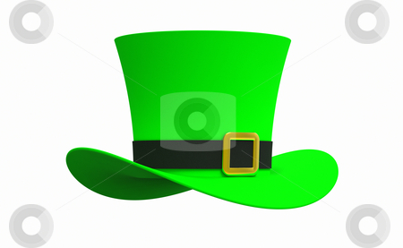 Leprechaun hat stock photo, Leprechaun hat isolated on white background by Borislav Marinic