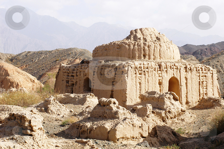 Ancient Islamic tomb stock photo, Landscape of a famous ancient Islamic tomb by John Young