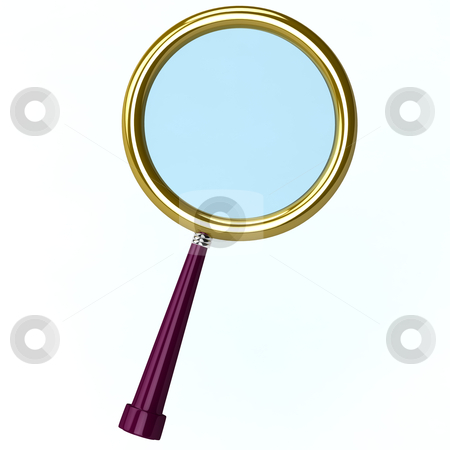3d illustration of a magnifying lens isolated on white stock photo, 3d illustration of a magnifying lens isolated on white by vetdoctor