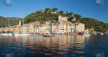 Portofino, Italy stock photo, Panorama of Portofino, famous small town near Genova, Italy  by ANTONIO SCARPI