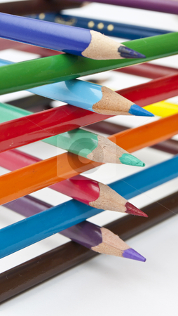 Colored pencils stock photo, Colored pencils by romankunitski