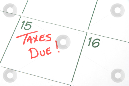 Taxes Due stock photo, A calendar reminder that Taxes are Due by Robert Byron