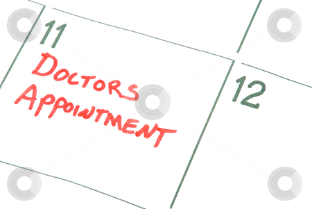Doctors Appointment stock photo, A calendar reminder for a Doctors Appointment by Robert Byron