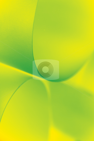 Abstract image paper shapes yellow green stock photo, an abstract macro photo of curve shapes made up of paper, coloured in yellow and green by dan comaniciu