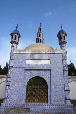 Islamic mosque stock photo, Landmarks of Islamic mosque in Sinkiang China by John Young