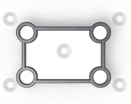Frame border stock photo, simple blank application interface - 3d illustration by J?