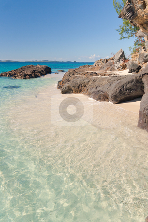 Rocky beach stock photo, Pictorial scene of Tsarabanjina island, Madagascar by Pierre-Yves Babelon