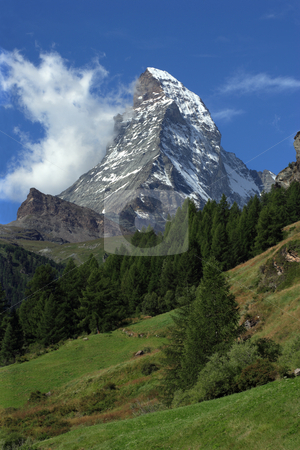 Matterhorn stock photo, The Matterhorn in Switzerland. by © Ron Sumners