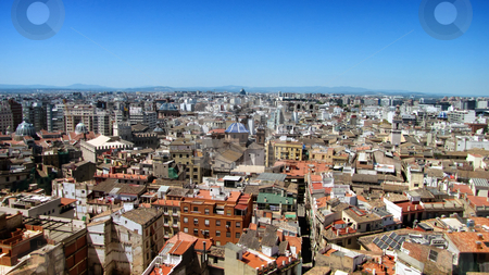 City Panorama stock photo, Valencia city beautiful panorama on a clear sunny day. by Bagiuiani Kostas