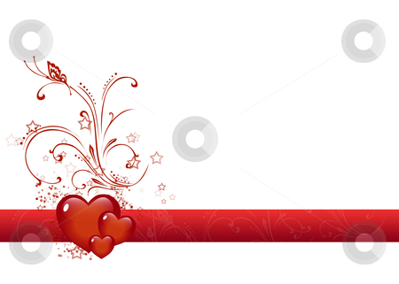 Valentine stock photo, Valentine illustration red composition on white background. by Bagiuiani Kostas