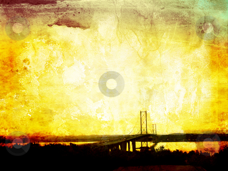 Beautiful grunge background with Forth Road Bridge stock photo, Beautiful grunge background with Forth Road Bridge, Edinburg by Juliet Photography