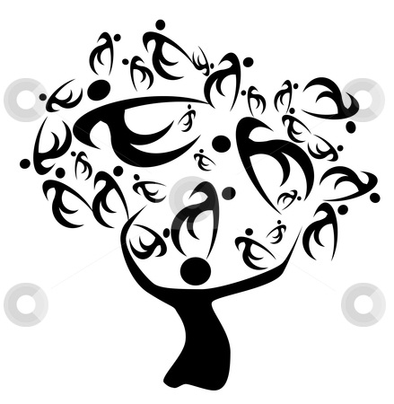 Family tree stock photo, family tree ancestors and decescents history of relatives by Dirk Ercken