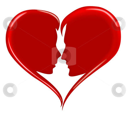 Love heart stock photo, red love heart happy valentines day by Dirk Ercken