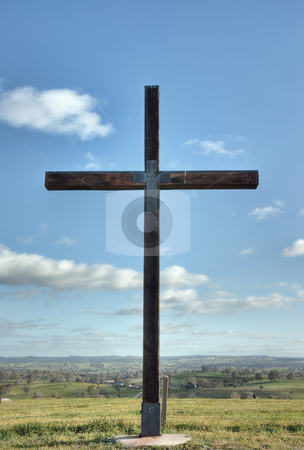 Christian cross of christ in field stock photo, image of a christian cross of christ in a field by Phil Morley