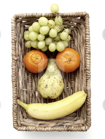 Fruit Face  stock photo, a funny fruit face  by Lars Kastilan