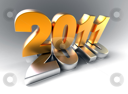 3d new year 2011 stock photo, 3d new year 2011 shape by Christophe Rolland