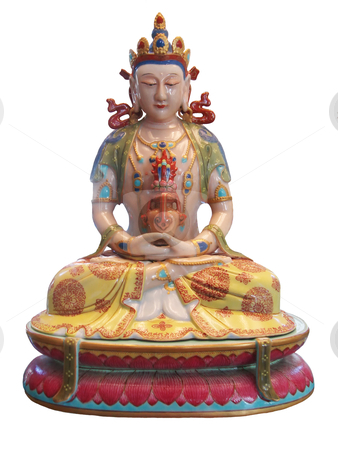 Buddha stock photo, buddha sitting in the posture of Meditation by Stelian Ion